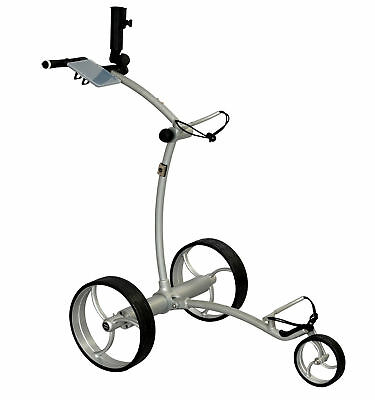 Tour Made RT-630LI Quickfold Lithium Elektro Golftrolley Caddy Silber Silber NEU
