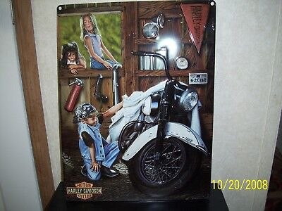 HARLEY- DAVIDSON ~ Curious Kids ~  Tin ~ Metal Sign ~ Advertising~ HD