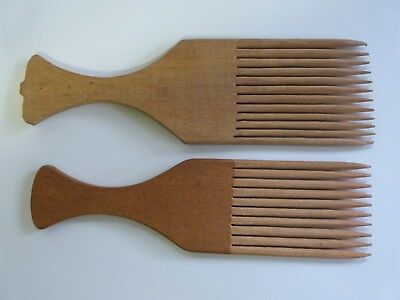 2 Antique African Wooden Combs