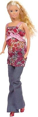 Steffi Love Barbie Girl Pregnant Toy Doll, Removable Tummy Baby + 13 Accessories