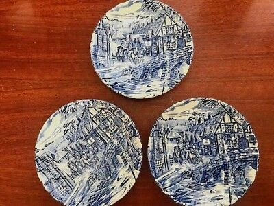 "Three (3) Alfred Meakin 5 1/2"" Saucers ""The Post House"""
