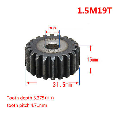 1.5Mod 19T 45# Steel Spur Gear OD 31.5mm Thickness 15mm Qty1