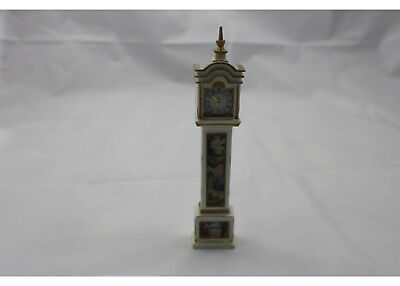 """Vintage Beautiful Dollhouse Handcrafted Grandfather Clock 6"""" Plastic Marble"""
