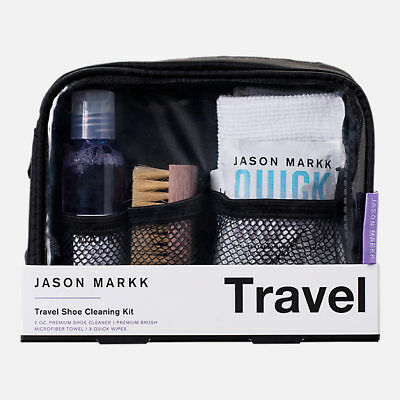 Jason Markk Travel Shoe Cleaning Kit with 2oz Cleaner Premium Brush Towel Wipes