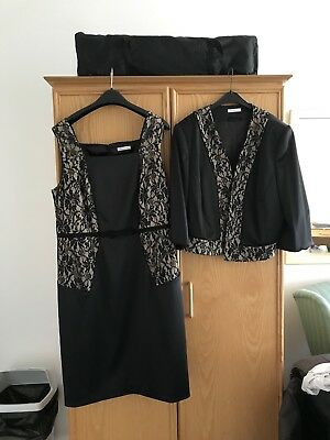 Gorgeous Mother Of The Bride Dress & Jacket Suit By Berkertex Size 20