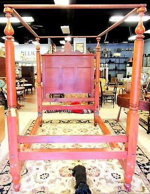 19Th Century Cherry Canopy Four Poster Plantation - Tester Bed 3/4 Size