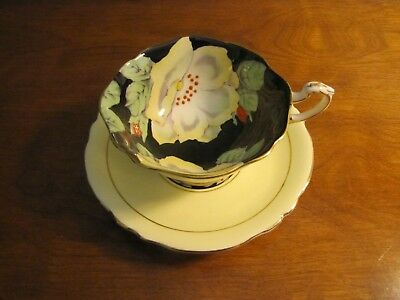 Paragon / Yellow Floral CUP & SAUCER Set / By Apt. to HM Queen Mary / England