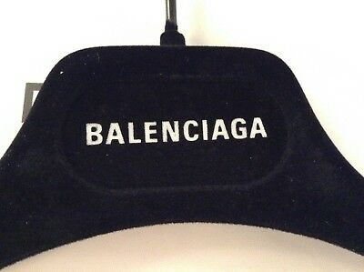 Balenciaga Black Velvet Velour Designer Hanger Dress, Blouse Luxury Elegant New