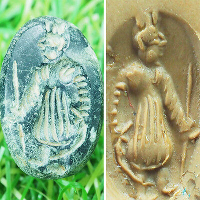 Adorable Rare Collective Antique Near Eastren Emperor  Intaglio  Bead #sh342