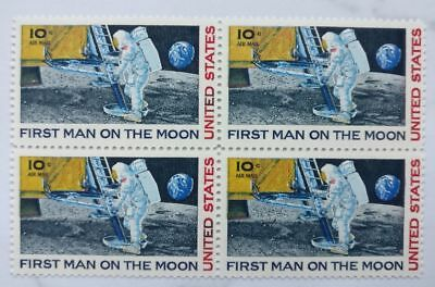 USA Mi.-Nr. 990  First man on the Moon  4er Block Postfrisch 1969