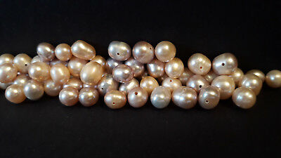 """21.5"""" Freshwater Pearl Beads-Pinks & Purples-6mm to 10mm-36g-66 beads approx"""