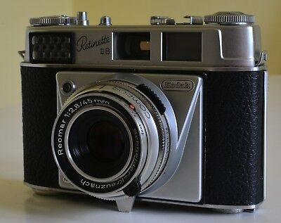 Kodak Retinette 35mm Vintage Camera (1950s) with 45mm f1:2.8 Lens Leather Case