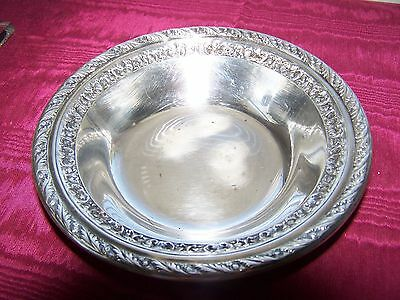 """Vintage Wallace Silver Plated Candy/nut dish 6.25"""" diameter"""