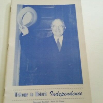 1950 Harry Truman Welcome to Historic Independence Promo Booklt Polly's Soda Pop