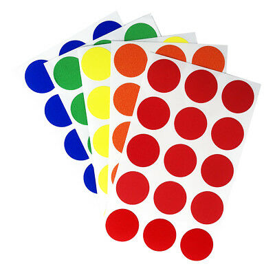 """3/4"""" Round Color Coding Dot Stickers, Adhesive Organization Labels - 900 Pack"""