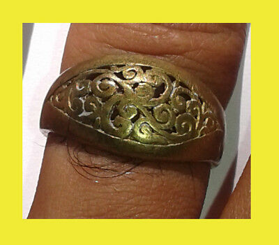 Rare Ancient VIKING BRONZE RING Artifact Authentic BRONZE Ring Good Patina!!