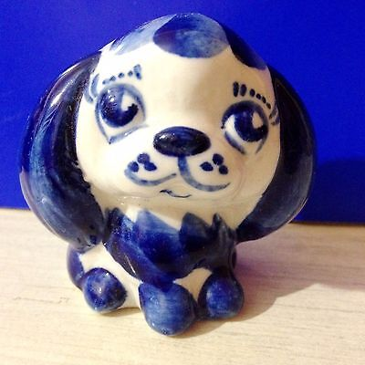 Pekinges figurine porcelain dog Souvenirs from Russia hand painting handmade