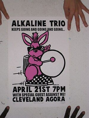 The Alkaline Trio Poster Silkscreen April 21 Cleveland Signed Numbered