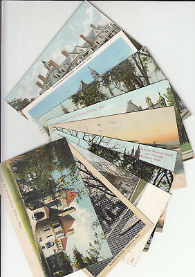 Lot of 10 Vintage Era Fairhaven Massachusetts Postcards Bristol County MASS MA