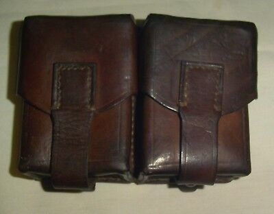 Vintage Double Leather Ammo Pouch