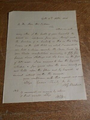 1836 Letter UPPER CANADA to Wlliam Dickson