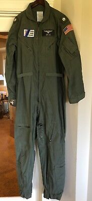 USCG United States Coast Guard Nomex FLIGHT SUIT with Oregon Patches 48L LONG