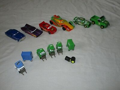 Lot Disney Cars Die Cast Cars Lightning Doc Easy Idle Chick Pitty Pit Crew +