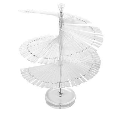 120pcs Clear Spiral Fan Shape Display Stand for False Nail Tip Stick Color Chart
