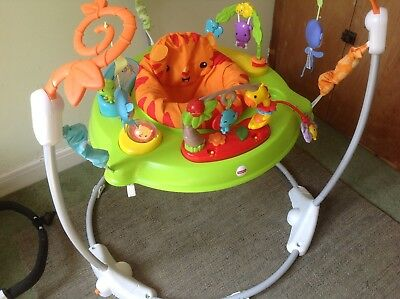 1daa845a2 FISHER-PRICE ROARING RAINFOREST Jumperoo Baby Bouncer Swing Music ...