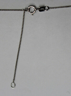 """14Kt 14K White Solid Gold .7mm Adjustable Wheat Chain 16"""" 18"""" With Spring Ring"""