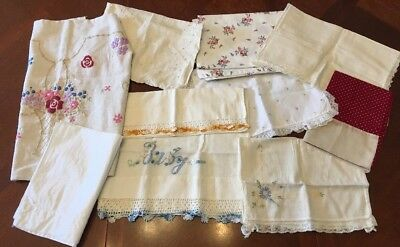 Lot Of 10 Vintage Antique Baby Small Pillow Cases