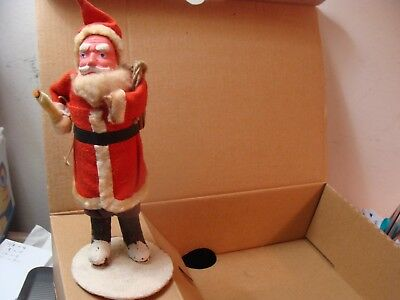 Antique Santa With Candle Ornament