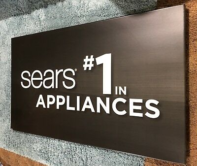 Sears #1 In Appliances Hanging Carboard Sign