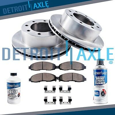 Front Disc Brake Rotors + Ceramic Pads 2009 2010 2011 2012 - 2017 Ram 2500 3500