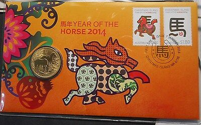Australia 2014 Lunar Year of Horse  PNC inc Dollar coin Nice