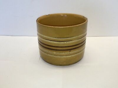 Vintage Yellow Ware Butter Crock - Early to Mid 20th Century