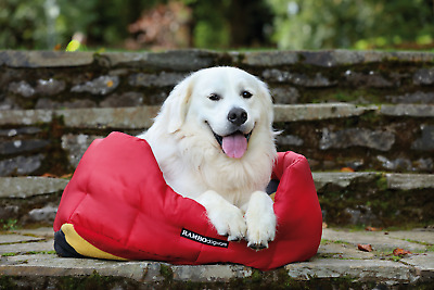 Rambo Dog Bed - Red/Witney Gold