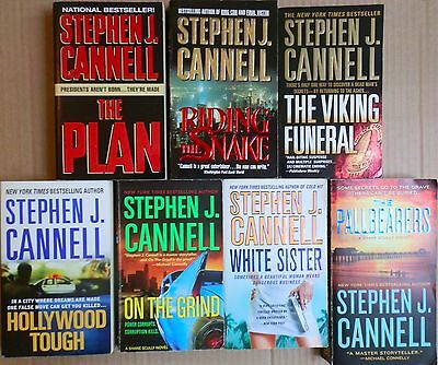 7 Stephen J. Cannell Paperback Books