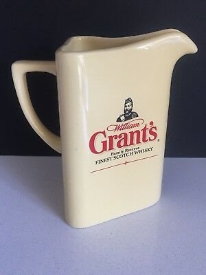 Vintage William Grant's Finest Scotch Whisky Water Jug Bar Man Cave Collectors
