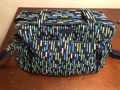 Vera Bradley Stroll Around Baby Diaper Bag - Katalina Blues (retired pattern)