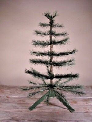 """Feather tree & folding stand table top 18"""" total VTG 1950s?"""