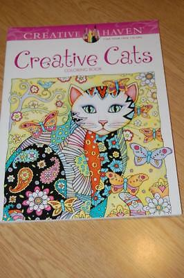 Creative Haven Stress Reliever Coloring Book - Creative Cats - New
