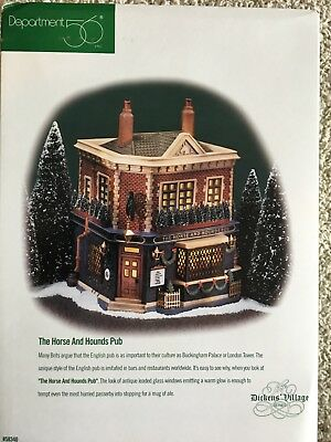 """Department 56 Dickens' Village """"The Horse nd Hounds Pub"""". NIB"""