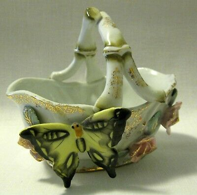 Rare BUTTERFLY BOWL - PORCELAIN PLANTER - Marked