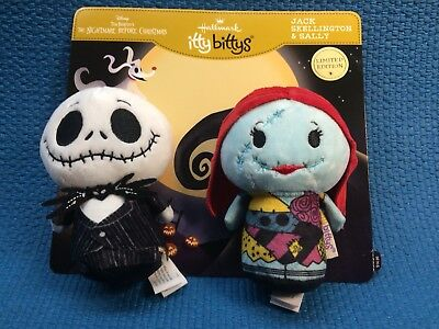 Hallmark Itty Bittys Jack Skellington & Sally Nightmare Before Christmas NIP