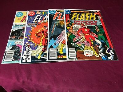 Flash 4 issue Lot 254, 265, 312, & 313 VF