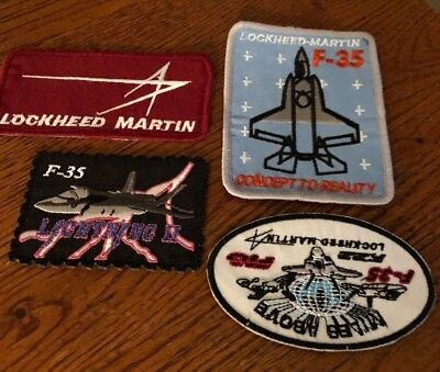 Set Of Four Lockheed Martin F-35 F-16 Aircraft Project Patches Mint