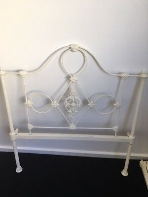 Antique wrought iron single bed - Complete set