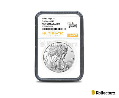 2018-S Silver American Eagle Proof  $1 First Day Ana Ngc Pf70 Ultra Cameo