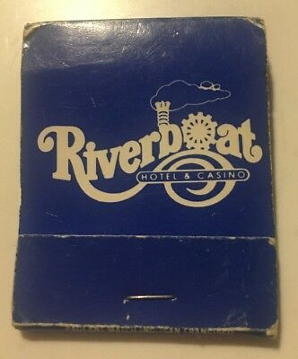 The Riverboat Hotel Casino Reno Nevada Vintage Matchbook